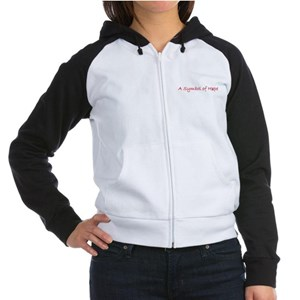 Symbol of Hope Women's Raglan Hoodie