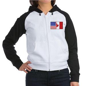 USA/Canada Women's Raglan Hoodie
