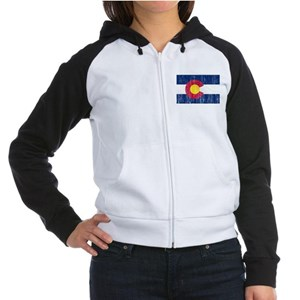 Colorado Flag Women's Raglan Hoodie