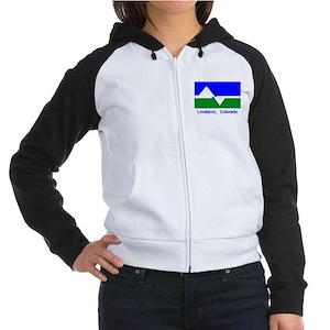 Loveland CO Flag Women's Raglan Hoodie