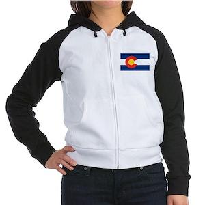 Colorado State Flag Women's Raglan Hoodie