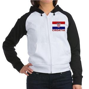 Croatia Flag Women's Raglan Hoodie