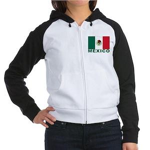Mexico Flag Women's Raglan Hoodie
