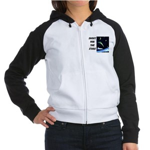 Shoot for the Stars Women's Raglan Hoodie