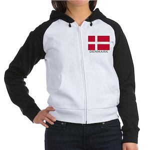 Denmark Flag Stuff Women's Raglan Hoodie