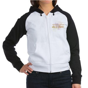 She is Fierce - Swirl Women's Raglan Hoodie