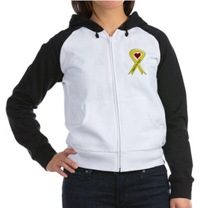 Support our Troops Yellow Ribbon Women's Raglan Ho