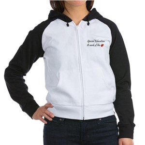 Special Education Teacher Women's Raglan Hoodie
