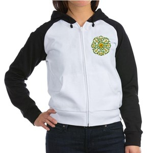 Knotwork Vegvisir - Viking Co Women's Raglan Hoodi