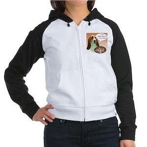 Basset Hound Turkey Women's Raglan Hoodie