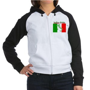 Italian Pride Women's Raglan Hoodie