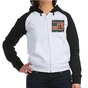 American Patriot Women's Raglan Hoodie