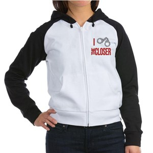 I Love The Closer Women's Raglan Hoodie