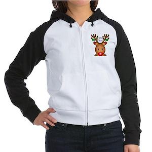 Reindeer with light Sweatshirt