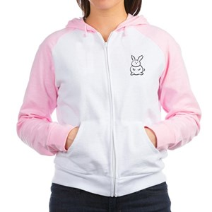 Bunnies make me hoppy Women's Raglan Hoodie