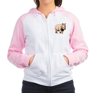 Rhino Rhinoceros Women's Raglan Hoodie
