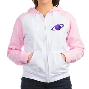 Purple Planet Women's Raglan Hoodie