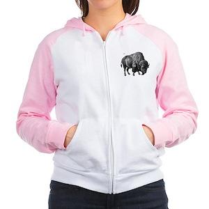 Bison Women's Raglan Hoodie