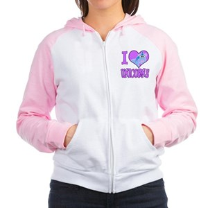 I Love (Heart) Unicorns Women's Raglan Hoodie