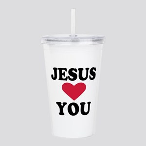 jesus_loves_you Acrylic Double-wall Tumbler