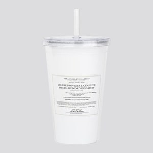 Driving Certificate Acrylic Double-wall Tumbler