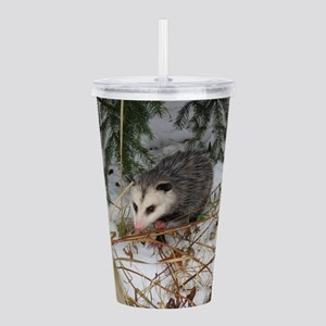 Snow Possum Acrylic Double-wall Tumbler