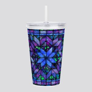 Blue Quilt Acrylic Double-wall Tumbler