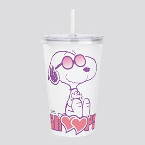 Snoopy Hearts Acrylic Double-wall Tumbler