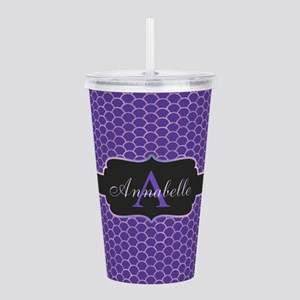 Purple Mermaid Scale Monogram Acrylic Double-wall