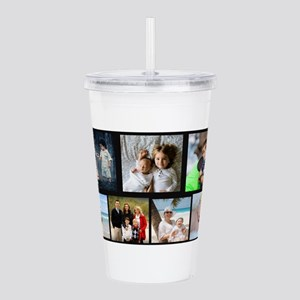 7 Photo Family Collage Acrylic Double-wall Tumbler