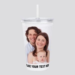 Photo Text Personalize Acrylic Double-wall Tumbler