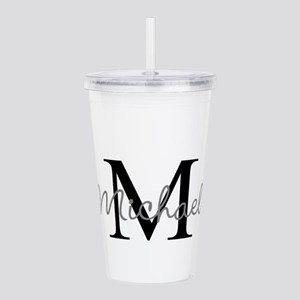 Customize Monogram Ini Acrylic Double-wall Tumbler