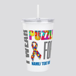 Autism Awareness Ribbo Acrylic Double-wall Tumbler