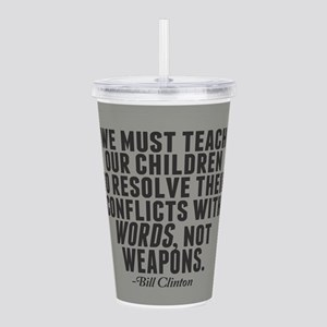 Words Not Weapons Acrylic Double-wall Tumbler