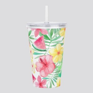 ALOHA Hawaii Summer Fl Acrylic Double-wall Tumbler