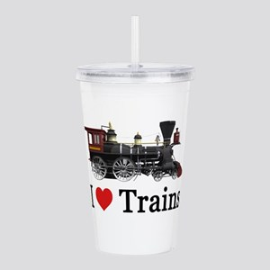 I LOVE TRAINS Acrylic Double-wall Tumbler