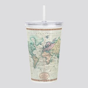 Vintage Map of The World (1801) Acrylic Double-wal
