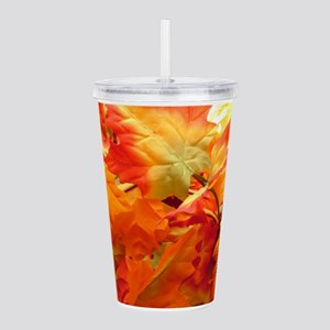 Bright fall leaves Acrylic Double-wall Tumbler