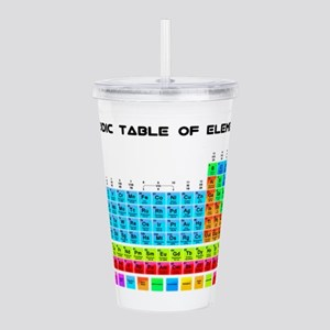 Periodic Table of Elements in Neon Acrylic Double-