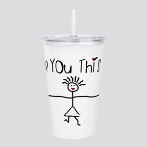 I Love You This Much Acrylic Double-wall Tumbler