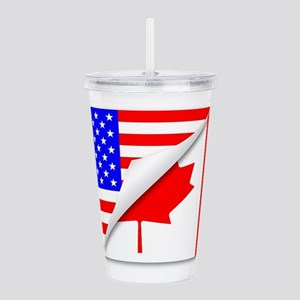 United States and Cana Acrylic Double-wall Tumbler