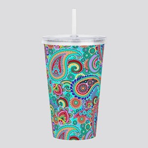 Retro Colorful Vintage Acrylic Double-wall Tumbler