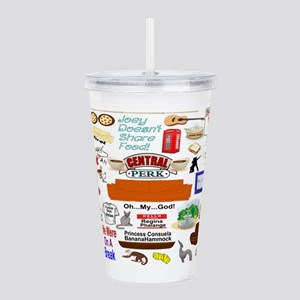 Friends TV Show Collag Acrylic Double-wall Tumbler