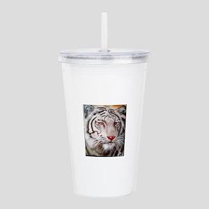 Tiger-white Acrylic Double-wall Tumbler