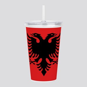 Flag of Albania Acrylic Double-wall Tumbler