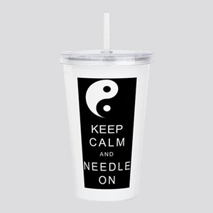 Keep Calm And Needle On Acrylic Double-wall Tumble