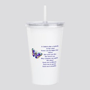 A Child Is Like a Butt Acrylic Double-wall Tumbler