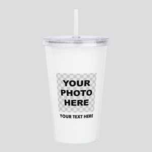 Your Photo And Text Acrylic Double-wall Tumbler