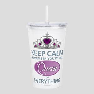 Keep Calm - Queen Acrylic Double-wall Tumbler
