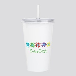 Personalize Flowers Acrylic Double-wall Tumbler